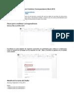 Combinar Correspondencia Word 2013 Excel 2013