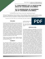 CONTRIBUCIÓN AL CONOCIMIENTO DE LA VEGETACIÓN DE LAS SABANAS DE CASANARE (COLOMBIA)
