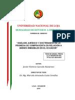 ANÁLISIS JURÍDICO Y DOCTRINARIO DE LA  PROMESA DE COMPRAVENTA EN RELACIÓN A  BIENES INMUEBLES EN EL ECUADOR