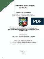 CRIANZA Y MANEJO GENÉTICO DE LLAMAS