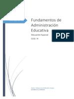 Fundamentos de Administración Educativa
