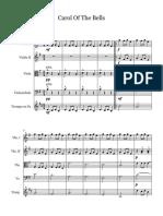 Carol of the Bells-Score y Partes