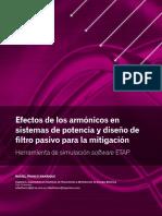 Efectos de los armónicos en sistemas de potencia y diseño de filtro pasivo para la mitigación Herramienta de simulación software ETAP