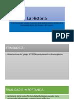 Concepto de Historia, Fuentes y Edades