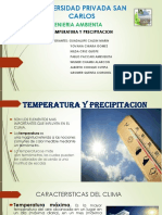 Temperatura y Precipitacion