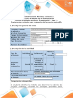 Guía de Actividades y Rúbrica de Evaluación - Fase 2 - Implementar Métodos Para Evaluación Del Proyecto Sostenible