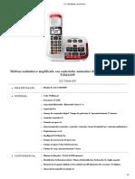 Telefono Inalambrico para HIPOACUSICOS Panasonic