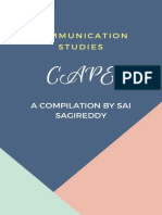 CAPE Communication Studies by Sai Sagireddy