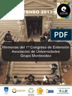 Memorias Del 1 Congreso de Extensi n Asociaci n de Universidades Grupo Montevideo Parte 1 1