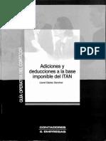 Adiciones y deducciones a la base imponible del ITAN (Llanet Gaslac S.)