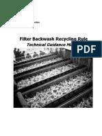 Filter Backwash