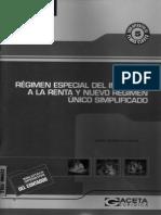 Regimen Especial Del Impuesto a La Renta y Nuevo Regimen Unico Simplificado (Gloria L. Villa R.)