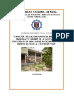 Memoria Descriptiva_laboratiorio de Medicina Veterinaria