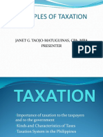 Basics on Taxation