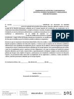Compromiso Aceptacion Cumplimiento Estatutos Acuerdos Reglamentos Cancelacion Derechos Pecuniarios