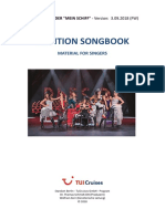 Audition Songbook - Tui Cruises - 180903