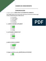 Examen de Conocimiento
