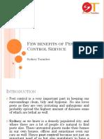 Few Benefits of Pest Control Service