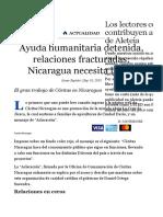 Ayuda Humanitaria Detenida, Relaciones Fracturadas
