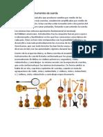 Historia de Los Instrumentos de Cuerda