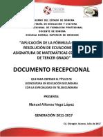 Manuel Alfonso Vega Lopez New