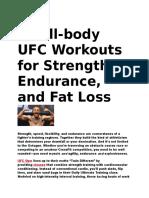 UFC Body Workout Program