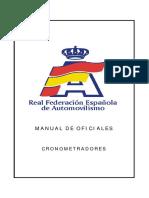 MANUAL DE OFICIALES CRONOMETRADORES DE RALLY