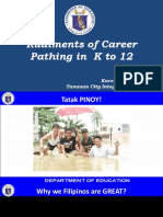 Day 1-4 Rudiments of Career Pathing K to 12