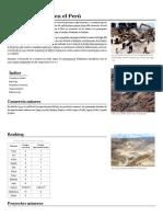 Industria Minera en El Perú - Wikipedia, La Enciclopedia Libre