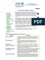 CICE - DICCIONARIO DE ARANCELES