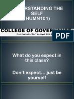 Lesson 1 Understanding the Self Philosophies