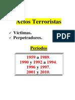 Desarrollo Cronologico Actos Terroristas - Victimas - Perpetradores -1959-2010