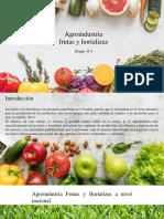 Agroindustria Frutas y Hortalizas