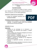 Actividades Económicas de La Provincia de Córdoba (1)