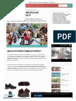 Pueblos Indígenas de México Su Clasificación y Sus Características
