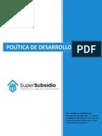 Política de Desarrollo Seguro