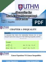 BPE 15002 - Week 1 (Inequalities)