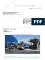 Output Capacity 5 TPH Coal Slime Drying System