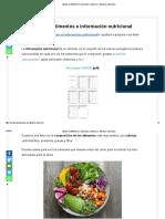 tabla de alimentos e informacion nutricional
