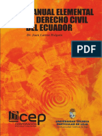 Manual Elemental de Derecho Civil Ecuatoriano Tomo 4
