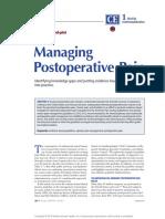 Managing Postoperative