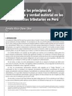Aplicación de Los Principios de Informalismo y Verdad Material en Los Procedimientos Tributarios en Perú