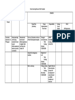 School Learning Resource Plan Template