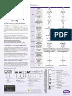 Benq Sl490 Sl550 Datasheet