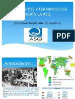 Conceptos y Terminología ASQ