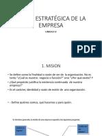 Vision Estratégica de La Empresa-mision Vision -Planificación Estrategica