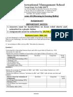 BBA Semester III Assignments & Rubrics 1