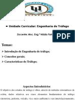Aula 1- Engenharia de Trafego