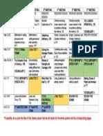 G9 2Q Timetable