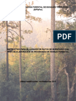 Instructivo de Llenado Del Formulario Del Inventario Forestal